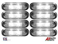 5 x 12V//24V FLUSH FIT GREEN LED MARKER LAMPS LIGHTS TRUCK VAN LORRY KELSA BAR