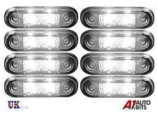 8x LED luces al ras Rotulador Blanco Lámparas De Posición 24v camión DAF Scania Volvo Hombre