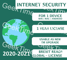 KASPERSKY INTERNET SECURITY 2021 ANY COUNTRY LICENSE ! +1 YEAR 1 PC MULTI-DEVICE
