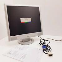 """HP Pavilion vs19 19"""" / 44cm LCD Flat Panel @60Hz TFT Monitor + VGA/DVI Cable +"""