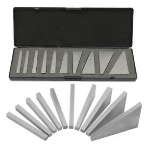 """Angle blocks 1 dec to 30 dec 10 pcs hardened and Ground 1/4"""" x 3"""" thick plate"""