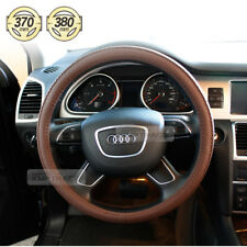 Car Steering Wheel Cover Auto Accessories Brown leather 370 ~ 380mm for All Car