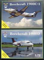 Amodel 72004 + 72005 - Beechcraft 1900D +1900C-1 - 1:72 - Flugzeug Bausatz - Kit