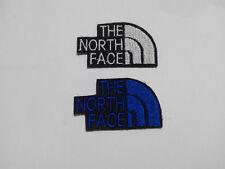 2 Parches bordados para coser estilo The north face 5/3 cm blanco y azul
