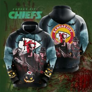 Kansas City Chiefs Hoodies Casual Hooded Sweatshirts Pullover Men's Jacket Coat