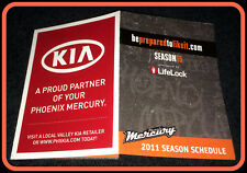 2011 PHOENIX MERCURY VALLEY KIA BASKETBALL POCKET SCHEDULE