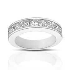 Wedding Band Ring In Platinum 2.00 ct Ladies Princess Cut Diamond