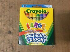 Crayola Washable Crayons Large 8 Each