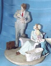 Norman Rockwell's First Day Home by Dave Grossman New Baby Family Figurine New