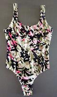 Pink Camouflage Badeanzug 36-46 Damen Bademode Einteiler Schwimmanzug Sexy Form