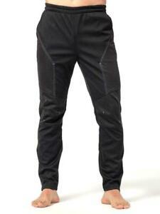 INBIKE Men's Black Winter Fleece Thermal Cycling Sports Pants Size XL New w/Tags