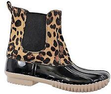 Dylan81 Women Waterproof Warm Snow Rain Winter Ankle Stretch Boot Bootie Leopard
