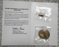 Vintage 1980's Sears Collectible 100 Year Anniversary 1886-1986 Pin & Keychain
