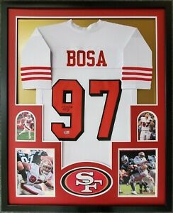 FRAMED SAN FRANCISCO 49ERS NICK BOSA AUTOGRAPHED SIGNED JERSEY BECKETT HOLO