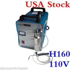 USA!! H160 Portable Oxygen Hydrogen Flame Generator Acrylic Polishing Machine