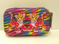 Lisa Frank Tiger Pencil Pouch Makeup Bag Travel Case Box Holder Zippered