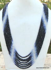 385 CT FACETED SAPPHIRE GEMSTONE BEADS STRANDS NECKLACE