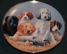 Franklin Mint/James Killen Ltd Ed Plate: School Daze - Five puppies