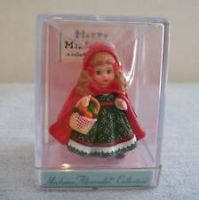 Hallmark 2000 Madame Alexander Red Riding Hood Doll  Merry Miniatures Doll