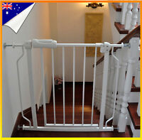 75-86cm Adjustable Baby Pet Child Safety Gate Extra Wide Extension Barrier