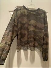 Forever 21 Camo Plus Size 3x Long Sleeve Top