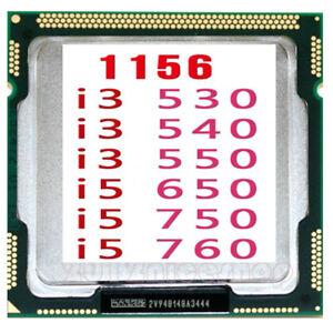 LOT Intel Core i3-530 i3-540 i3-550 i5-650 i5-750 i5-760 LGA 1156 CPU Processor
