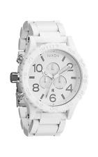 New Authentic Nixon Watch 51-30 CHRONO ALL White Silver A083-1255 A0831255 USA