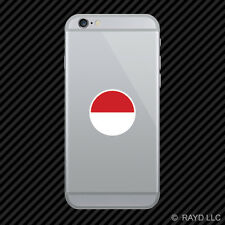 Round Indonesian Flag Cell Phone Sticker Mobile Indonesia IDN ID