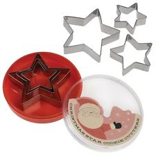 dotcomgiftshop SET OF 3 CHRISTMAS STAR COOKIE CUTTERS