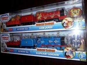 THOMAS & FRIENDS TRACKMASTER-SODOR SAFARI LION JAMES &  ELEPHANT GORDON  NIB