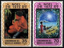 New Hebrides French 1973 SG#F197-8 Christmas MNH Set #D31625