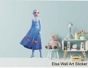 ELSA - FROZEN II -  WALL ART STICKERS - 3 x great sizes - great for any room