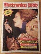 ELETTRONICA 2000 N° 105 1988 MICROSPIA FM RTX INFRAROSSI BOOSTER 20 W SWITCH