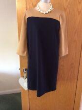 GAP LINED NAVY & TAN DRESS brand New  Size 10❤❤