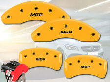 "2005-2007 Mercedes Benz C230 Front + Rear Yellow ""MGP"" Brake Disc Caliper Covers"