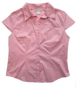 Dressbarn Open Armpit Pink 97% Cotton Blouse Shirt Size L
