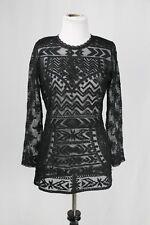 Isabel Marant pour H&M Black Lace Blouse Top Sz US 8