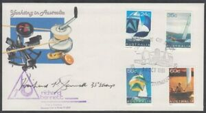 AUSTRALIA 1981 YACHTING FDC SIGNED DESIGNER (ID:111/D61221)