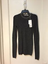 VINCE  PULLOVER THIN CASHMERE STRIPED SWEATER NWT SIZE XS $265.00