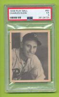1939 Play Ball - Chuck Klein (#52) Pittsburgh Pirates  PSA 5 EX