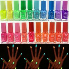7ML Vernis à Ongle Fluorescent Fluo Néon Phosphorescent Polish Manucure Nail Art