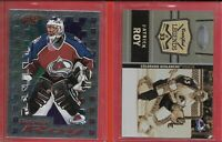 2 x INSERT**PATRICK ROY**10-11 Certified Legends(#8)98-99 Pacific Dynagon Ice 6