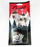 Genuine Fender Universal 2-Screw Amplifier Amp Metal Corners - Set of 4