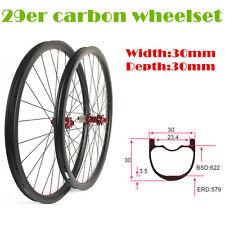 29 inch 30mm wide 30mm depth carbon mountain bike wheels with powerway M42 hub