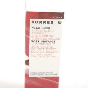 KORRES Wild Rose Advanced Brightening Sleeping Facial - 0.34 Ounce - NEW