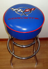 Corvette Racing Flag Royal Blue with Red Piping C-5 Car Sign Bar Stool - NEW