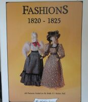 "Miniature Clothing Patterns Fit 5 1/2"" Dolls & Heidi Ott  1820-1825  Scale 1:12"