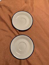 """Lot 2- Saucer Tea Plate Sango Provence 260 Bouquet Blue Japan Cobalt Trim 6 1/4"""""""