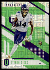 2017 Unparalleled Stefon Diggs Green Escher Squares SP Minnesota Vikings