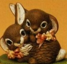Cuddle Bunny Rabbits Ready to Paint Ceramic Bisque
